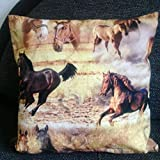 Pferdekissen/Zierkissen,Kinderzimmer Deko, Geschenk Weihnachten, Geschenk für Mädchen, Fan Pferde,handmade Deutschland