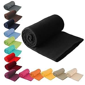 fleecedecke uni 130 x 170 cm pink k che haushalt. Black Bedroom Furniture Sets. Home Design Ideas