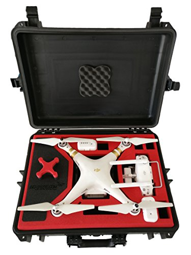 Koffer / Transportkoffer von MC CASES passend für DJI Phantom 3 Professional und Advanced mit Platz für 6 Akkus - 3