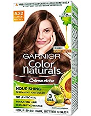 Garnier Color Naturals Crème hair color, Shade 5.32 Caramel Brown, 70ml + 60g