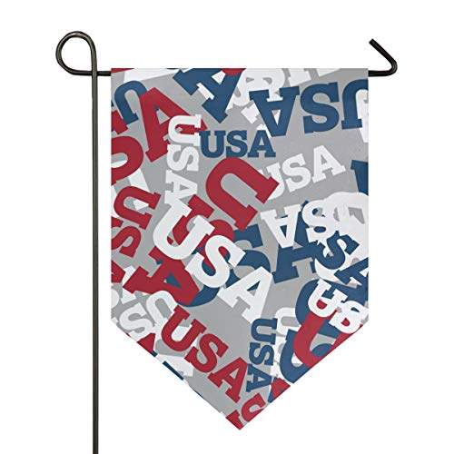 SENNSEE Hausflagge USA Muster Gartenflagge 30,5 x 45,7 cm doppelseitig dekorative Hofflagge für Zuhause Dekoration im Freien, Polyester, Multi, 28x40 -