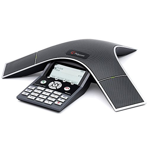 Polycom SoundStation IP7000 (SIP), 2200-40000-001 Konferenztelefon, erweiterbar, 802.3af Power over Ethernet, inkl. 6m CAT5 Kabel