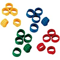 Kerbl Anillas en espiral 20mm, plástico, diversos colores, envase de 100 uds.