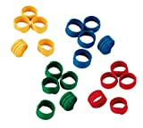 Eurofarm Anelli a spirale 12 mm, di plastica, confezione da 100 pezzi, colori: Assortiti