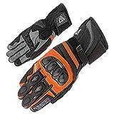 Orina Splash Racing Motorradhandschuhe Leder Rennsport Sommer Handschuh Gr.S-3XL (9, orange)