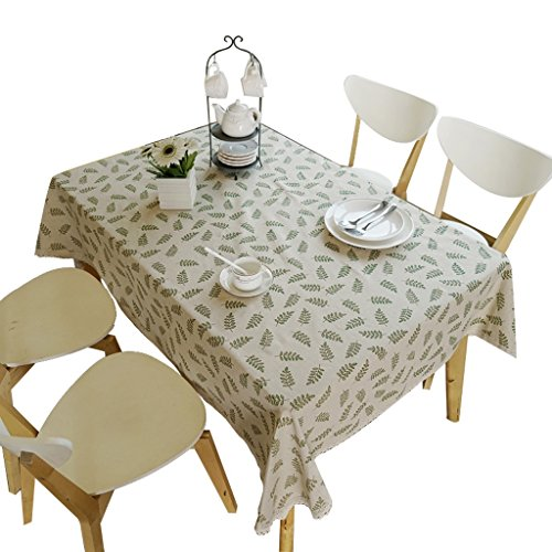 Tuch Baumwolle Leinen Tischdecke, rechteckige Couchtisch Tuch Haushalts Staubschutz Tuch (Farbe : A,...