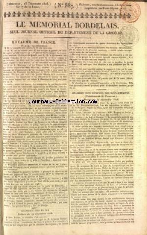 MEMORIAL BORDELAIS (LE) [No 887] du 25/1...