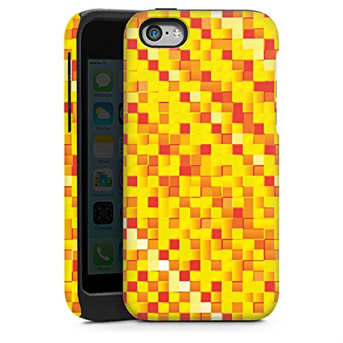 Apple iPhone 5s Housse Étui Protection Coque Motif Motif Pixel Cas Tough brillant