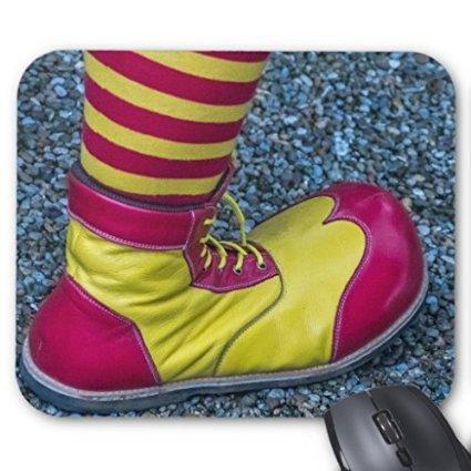 scorpio-leo rot und gelb Clown Schuh Mauspad