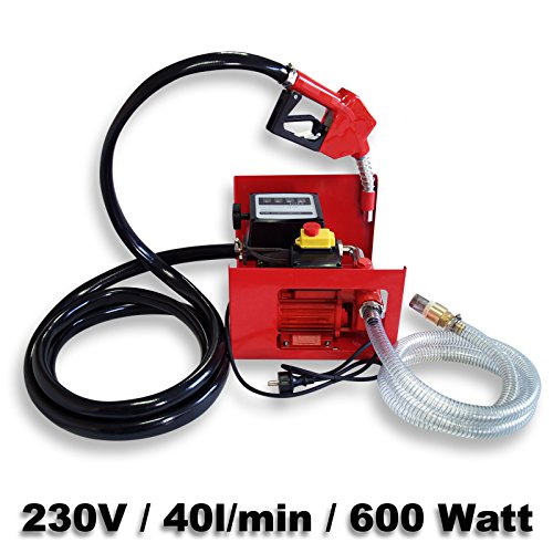 Preisvergleich Produktbild Bio Dieselpumpe Heizölpumpe selbstansaugend 230V / 600W 40l / min automatische Pistole Umfüllpumpe Absau