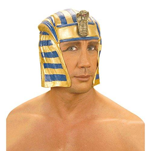 Net toys copricapo da faraone egiziano in latex elmetto casco sovrano dell'antico egitto -
