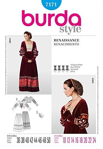 uster 7171–Renaissance Rock & Mieder Kostüm Größen: 10–24 (Muster Für Renaissance-kostüme)