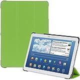 kwmobile Slim Smart Cover Funda Carcasas para Samsung Galaxy Note 10.1 (2014) en verde