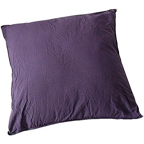 Funda de almohada Palace Pur algodón Teint lavada, 63hilos/cm², ciruela, 63 x 63 cm