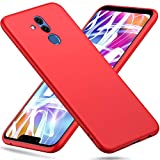 Peakally Huawei Mate 20 Lite Hülle, Matte Oberfläche Soft Hüllen [Ultra Dünn] [Kratzfest] TPU Schutzhülle Case Weiche Handyhülle für Huawei Mate 20 Lite -Rot