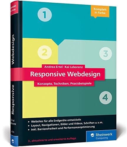 Responsive Webdesign: Konzepte, Techniken, Praxisbeispiele. Das Standardwerk in 3. Auflage! Buch-Cover