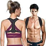 CAVN Adjustable Haltungskorrektur Rückenstütze für Herren Damen, Bodywellness Posture Corrector Lendenwirbelstütze Rückenstütze - Rücken, Schulter, Taille, Nackenschmerzen Relief, XL (37
