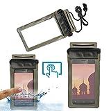 Acm Waterproof Bag Case for Ivoomi Me2 Mobile (Rain,Dust,Snow & Water Resistant) Black