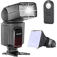 Neewer TT560 Speedlite Flash Kit para Canon Nikon Sony Pentax, Cámara Réflex Digital con Zapata Estándar, Incluye TT560 Flash, Difusor de Flash y Control Remoto