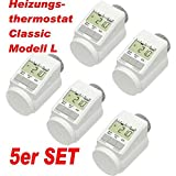 Heizungsthermostat - 5er Set