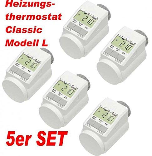 5er Set - Heizkörperthermostat