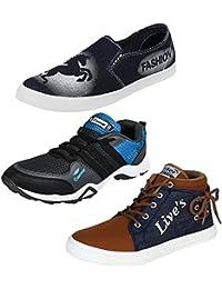 Bersache Men Combo Pack Of 3 Casual Shoe With Sports Shoe