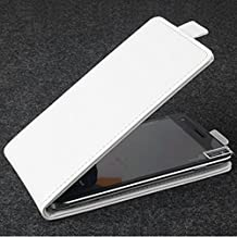 Prevoa ® 丨 Cubot X16 Funda - Flip PU Leather Protictive Funda Case para Cubot X16 5.0 Pulgadas Smartphone - Blanco