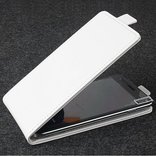 Prevoa ® 丨Flip PU Hülle Case Schutzhülle Tasche für Cubot X12 4G FDD-LTE 5,0 Zoll Smartphone - (White)