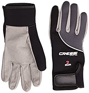 Cressi Tropical 2mm Gloves - Black/Grey, Small