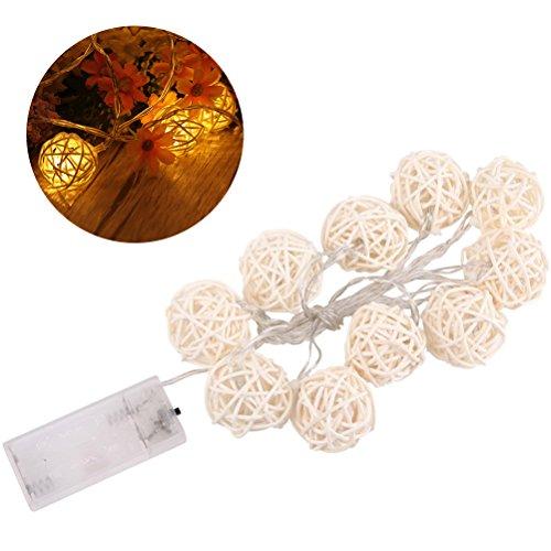 Leuchten Deko-LED, 1.5m 10Lichterkette Feen im Freien Innen mit Batterien Kugel der Rota LED für die Dekoration Partei Geburtstag des Haus der Hochzeit der