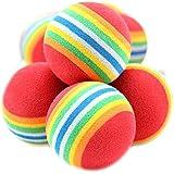 10x Mignon juguete pelotas coloréés para animales Pet perro gato