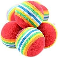 10 x Mignon juguete pelotas coloréés para animales Pet perro gato