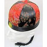 Chinesisch Kaufmann Runder Hut Verziert 61