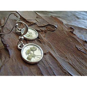 ✿ ECHTE BLÜTEN BLUMEN SCHAFGABE SCHEIBE ✿ handgefertigte Ohrringe aus eigens getrockneten Blüten mit Resin Harz