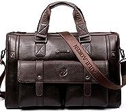 Leather Messenger Bag Satchel Shoulder Crossbody Sling Working Bag Bookbag Briefcase Laptop for Men