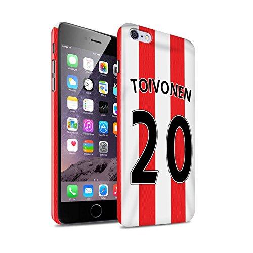 Offiziell Sunderland AFC Hülle / Glanz Snap-On Case für Apple iPhone 6S+/Plus / Pack 24pcs Muster / SAFC Trikot Home 15/16 Kollektion Toivonen