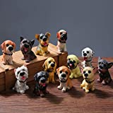 TOYMYTOY Car Dashboard Ornaments, Cute Puppy Decor - 12pcs Mini Dogs, Home Decoration