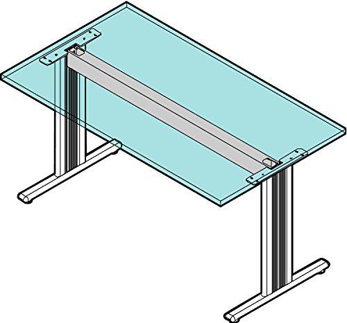 Gedotec Metall Tischgestell höhen-verstellbar Schreibtisch-Gestell System - CAMO | Füße für Arbeitstische | Tisch-Untergestell für Plattenlänge 800 mm | 1 Set - Tischbeine aus Stahl ohne Tischplatte
