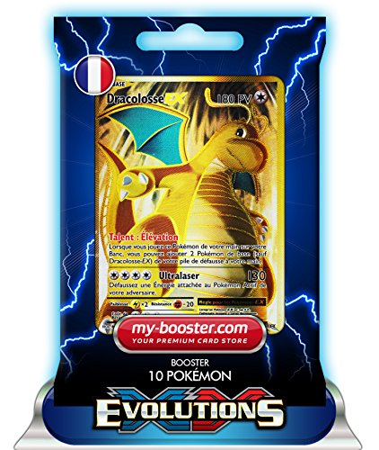 DRACOLOSSE EX FULL ART 106/108 180PV XY12 EVOLUTIONS - Booster de 10 cartes Pokemon francaises my-booster