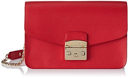 Furla Damen Metropolis S Shoulder Bag Business Tasche, Rot (Ruby), 9x18x25 cm