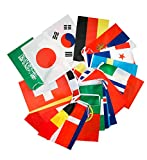 Cindio 32 Länder Fahnen Wimpelkette Fahnenkette Flaggenkette Girlande WM Russland 2018, 10.5 Meter, Fahnengröße: 20 x 30 cm
