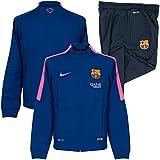 2014-2015 Barcelona Nike Knit Tracksuit (Royal Blue) - Kids