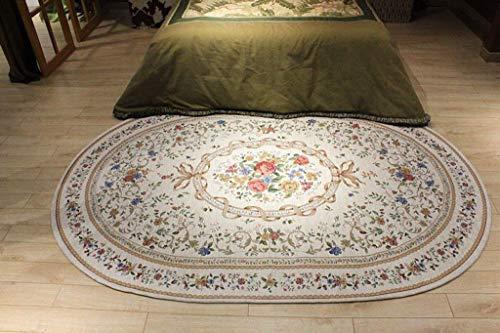 Traditionelle Ovale Teppich (DTDTGXQ Innenteppich Oval Teppichbereich Teppich Wohnzimmer Schlafzimmer Garderobe Tee Tischdecke Großer Teppich Decke,B,200 * 250cm)