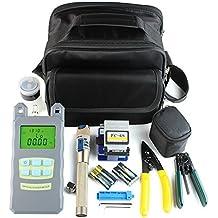 DAXGD 9 en 1 fibra óptica FTTH Kit de herramientas con FC-6S Fibra Cleaver y medidor de energía óptica 5 km Visual Localizador de averías Wire stripper