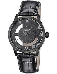 Stührling Original 650.04 - Reloj analógico para hombre, correa de cuero, color negro