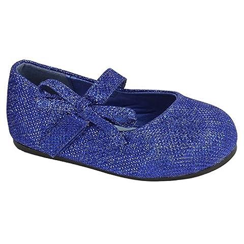 Spot On Mädchen Mary Jane Style Glitter Schuhe mit Masche