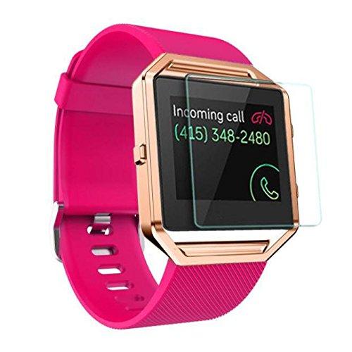atabel für Fitbit Blaze Watch Armband+Metal Frame+HD Film ,Silikon Ersatzband Uhrenarmband Wechselarmband Wrist Strap ,Weiche Silikon Replacement Sportarmband Wristband Armbänder ()