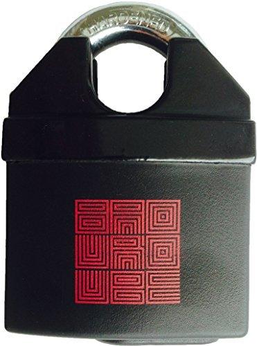 BaouRouge Maximum Sicherheit - All-Wetter Eisen & Stahl Schäkel Vorhängeschloss mit Schlüssel