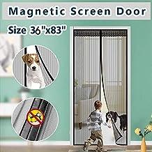 Mosquitera magnética para puerta, de Surpass, marco completo, se cierra automáticamente, operación