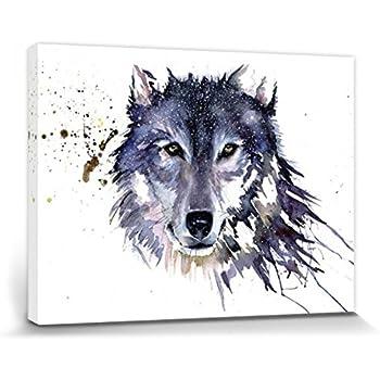 1art1® Loups Poster Reproduction Sur Toile, Tendue Sur Châssis - Loup De Neige, Sarah Stokes (40 x 30 cm)